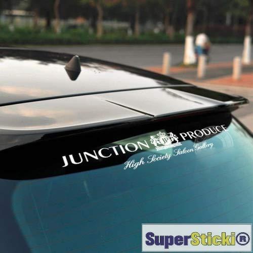Junction Produce JP Heckscheibenaufkleber ca 30 cm Tuning Racing Rennsport Renndecal Aufkleber Sticker Decal aus Hochleistungsfolie Aufkleber Autoaufkleber Tuningaufkleber Racingaufkleber Rennaufkle