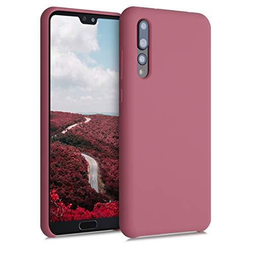 kwmobile Hülle kompatibel mit Huawei P20 Pro - Handyhülle gummiert - Handy Case in Deep Rusty Rose