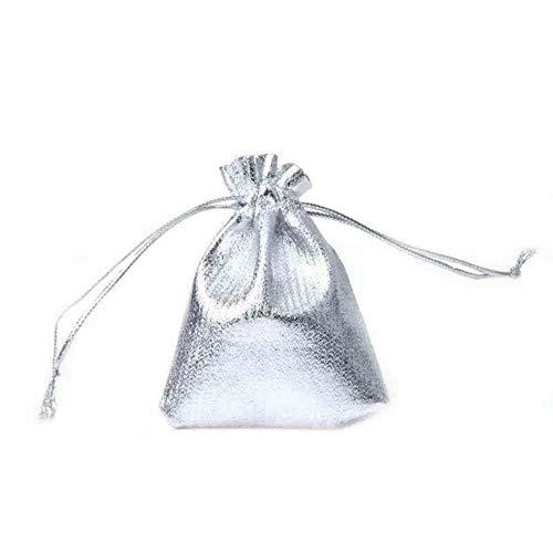 Aober 100 stks Trekkoord Geschenkzakken Metallic Folie Organza Zakjes Kerst Bruiloft Gunst Geschenken Snoepzakken…