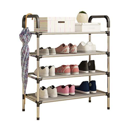ZZYE Zapatero organizador estantes torre de almacenamiento apilable 4 niveles DIY montaje estante pie pasillo entrada zapatos organizador