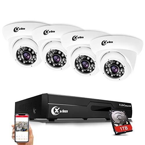 XVIM 8CH 1080P Video Security Camera DVR System, 4 HD 2.0MP Indoor Outdoor Dome CCTV Surveillance...