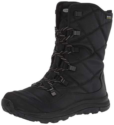 KEEN Women's Terradora 2 Lace Boot Wp Snow, Black/Black, 9