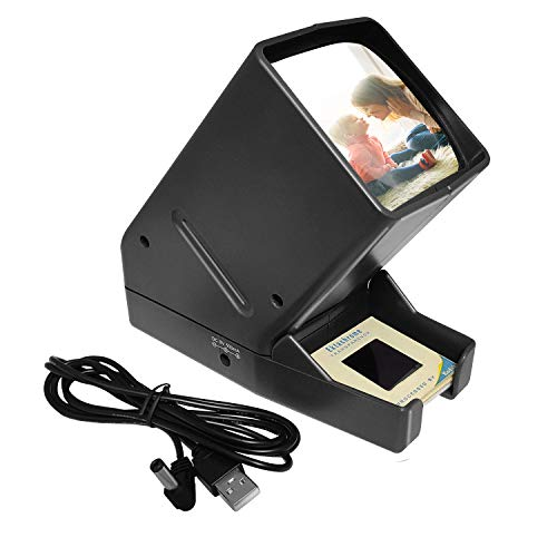 Best Bargain Slide Viewer for 35mm Film Strip, Desk Top Portable LED Lighted Viewing-for Positive Fi...