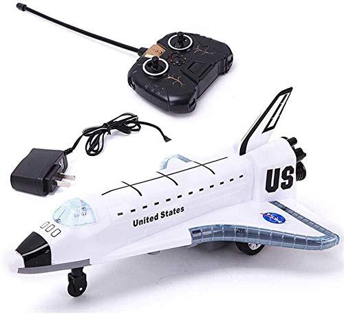 Bck La luz LED Música avión RC eléctrico de Control Remoto Modelo de avión Airbus de Amarre de Luces 3D y Realista Aviones Aire Libre Regalo for los niños de Motores a reacción Sonidos Regalo
