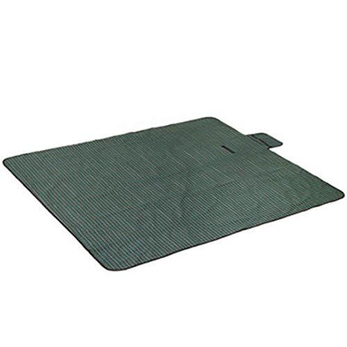 ZGYQGOO Picknickdecke, kompakte leichte Strandmatte Outdoor Oxford Cloth Tragbare Teppichmatte (150X180), Grün