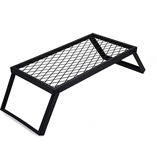 HQZ Folding Campfire Grill Grate, Heavy-duty Outdoor Camping Grills with Legs,...