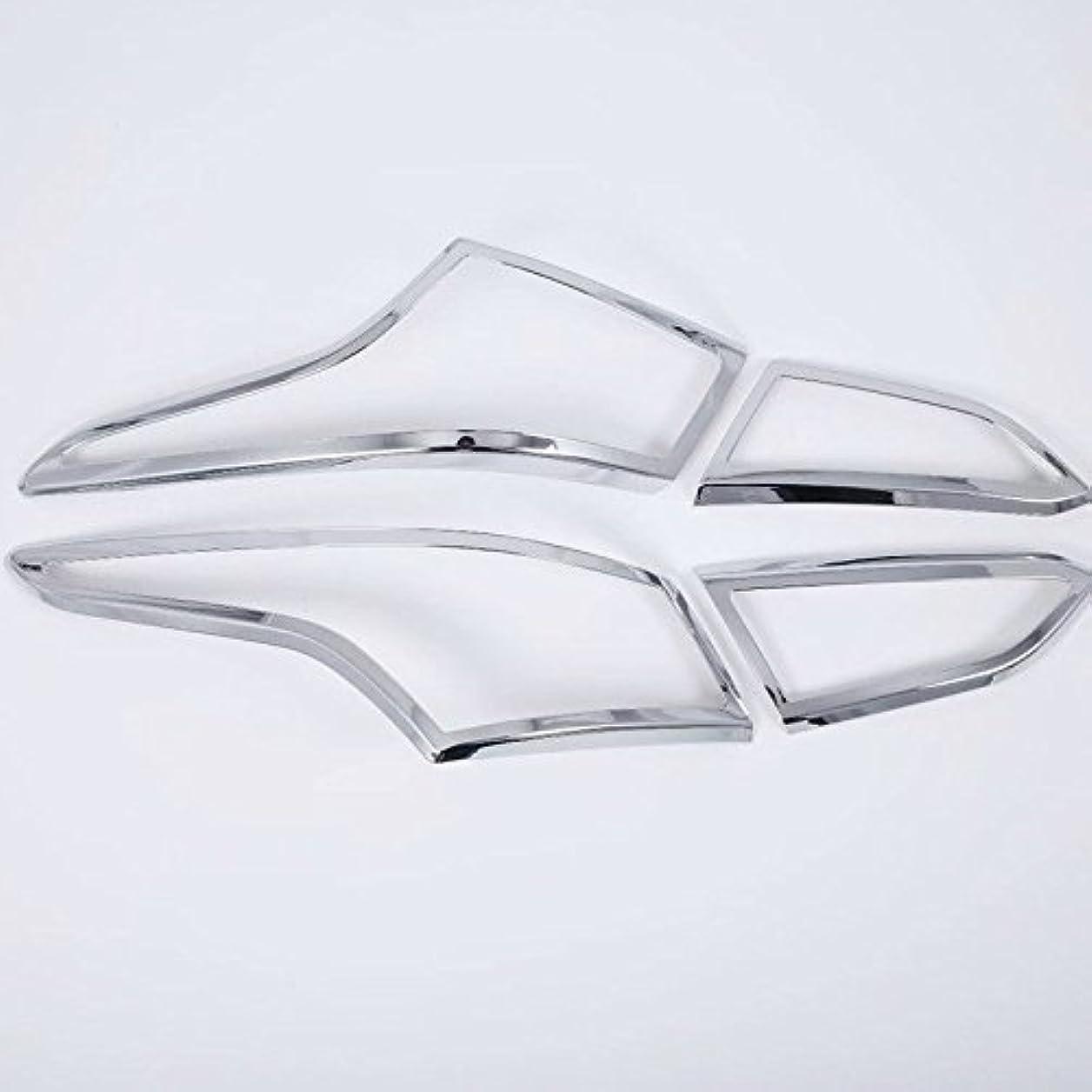 山積みの拳すすり泣きJicorzo - 現代アクセントのSolaris Vernaで2018-2019カーエクステリアアクセサリースタイリングABS車のリアテールライトランプカバートリムステッカー4本
