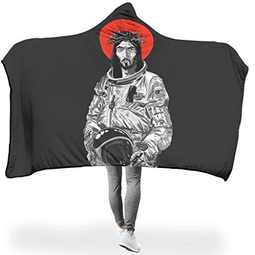 NC83 Vledermuisdeken Jezus NASA Astronaut design druk microvezel ultra zacht Robe Hoodie - Funny God origineel voor wintergeschenk te gebruiken