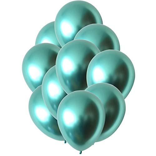 Xinger 10Pcs Metal Chrome Latex Ballonnen Wedding Xmas Verjaardagsfeestje Metallic Air Ballen Globos Decoratie Ballonnen, Groen