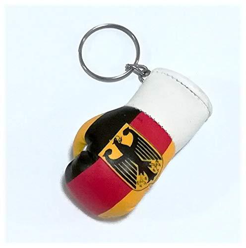 Sportfanshop24 Schlüsselanhänger/Anhänger für Schlüssel - Deutschland mit Adler - Boxhandschuh mit Schlüsselring, 7 cm groß