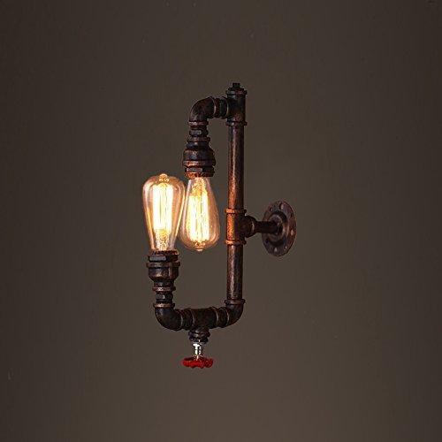 ZWL Loft Retro Industrie Feu Cheminée d'eau Lampe murale Salon Restaurant Eclairage Clubhouse Bar Cafés Internet Escaliers Lampes de l'allée E27 Lampes murales 45 * 26CM mode (taille : 45 * 26CM)