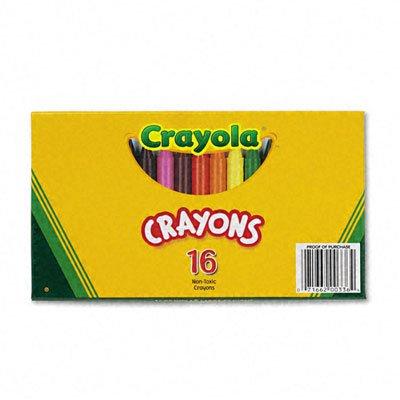 Crayola Large Crayons 16 Colors/Box Crayola 52-0336