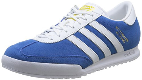 Adidas Beckenbauer, Zapatillas de Deporte para Hombre, Blue Bird/FTW White/Gold, 42 EU