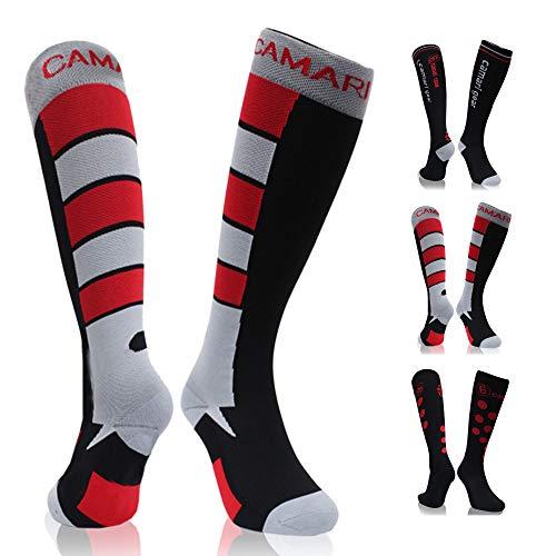 Camari Gear Kompressionsstrümpfe für Damen und Herren, Kompressionssocken Compression Socks Thrombosestrümpfe für Laufen, Sport, Flug, Reise, Radsport, Schwangerschaft