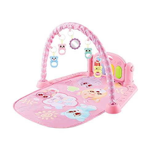 Delisouls Baby Play - Alfombrilla de gimnasio con música y luces, juego de bebé