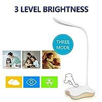 ベッドルームナイトライトブックライト用のLEDデスクランプタッチUsbの3レベルの調光対応LEDテーブルランプ研究読書ライト,Blue light,A