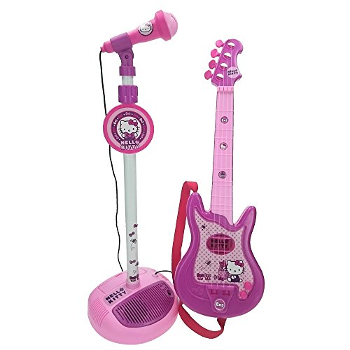 Reig 1494 - Chitarra Hello Kitty a 4 Corde e Microfono con Asta