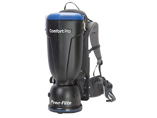 Powr-Flite Comfort Pro Backpack Vacuum Cleaner Commercial - Vacuum Canister - Hepa Filter - BP10S - 10 Quart