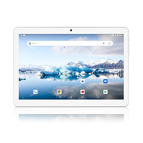 Android Tablet 10 Inch, 3G Phablet, Android 8.1 Tablets, 2GB+32GB, GMS Certified, Dual SIM Card Slot and Cameras, WiFi, Bluetooth - Silver