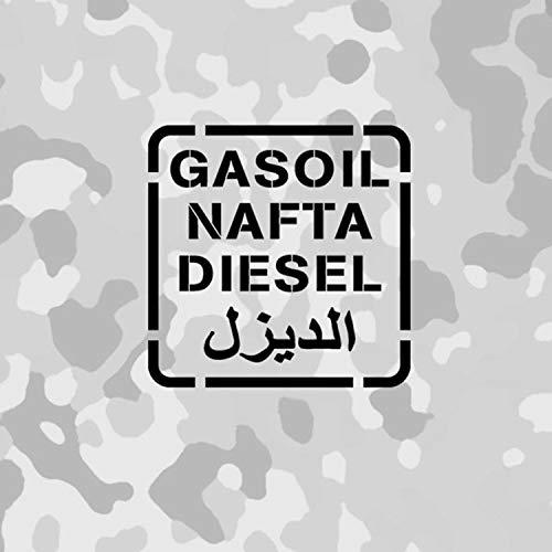 Aufkleber/Sticker Diesel Gasoil NAFTA US Army Betiebsstoff 10x10cm A651