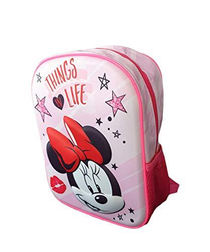 Mochila Infantil 3D Minnie Mouse Escolares para Niñas y Niños de 3 Años | Material Escolar Vuelta al Cole de Disney Mikey Minnie Mouse