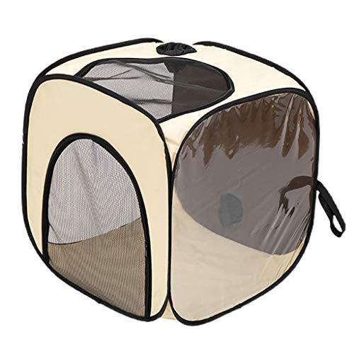 Hunde-/Katzen-Laufstall, Oxford-Gewebe, abnehmbarer Reißverschluss oben, Schattenabdeckung zur Verwendung