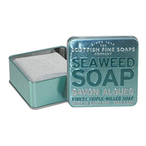 Scottish Fine Soaps Serie Aromas Escoceses - Jabón en lata 100 g - Aroma Algas (Exfoliante)