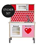 Limmaland Sticker byGraziela für IKEA DUKTIG (Rosa/Rot) - Kinderküche Nicht inklusive