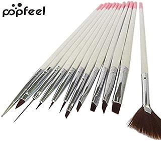 Renovatio Nails - popfeel 12x Nail Art Polish Painting Draw Pens Brush Tips Tools Set UV Gel Nail Brushes