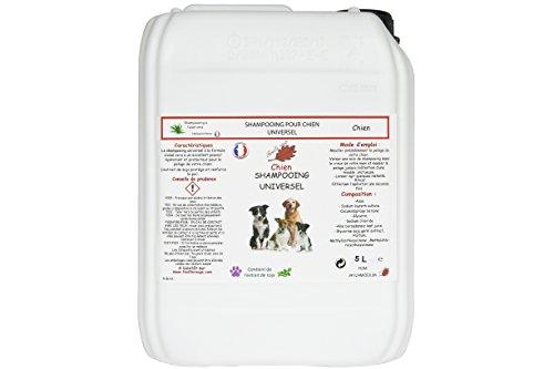 Feuille rouge Shampooing Universel pour Chien à l'Aloé-Vera 5 litres Pro