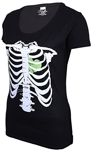 Küstenluder Punk ZOMBIE HEART Bones KNOCHEN Shirt Rockabilly - 5