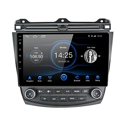 EZoneTronics 2 DIN Android 10.1 passend für Honda Accord 7. 2003-2007 Autoradio Stereo 10,1 Zoll Kapazitiver Touchscreen High Definition GPS Navigation Bluetooth USB WiFi AM FM Player 2G RAM +16G ROM