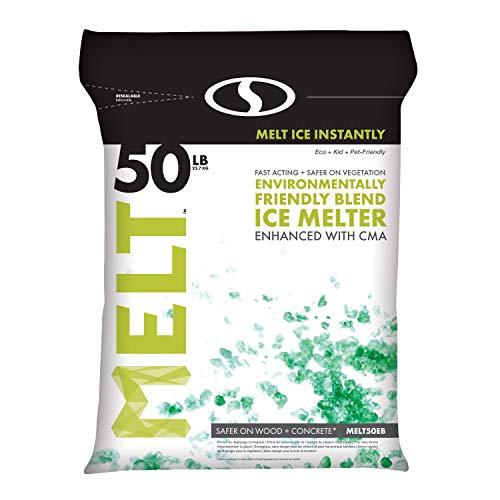 professional Snow Joe AZ-50-EB Melt-2-Go Natural + Pet-friendly CMA ice machine mix, 50 lb bag