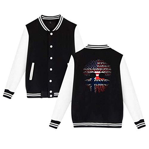 SHIEZZ American Grown Norway Roots Men's Women's Baseball Uniform Jacket Sports Coat