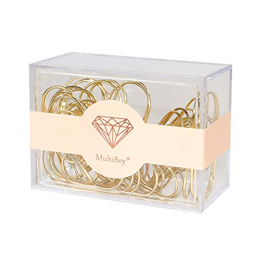 Large Paper Clips Smooth Finish Gold Jumbo Paper Clip Colored Paper Clips 2'' 30PCS Bookmark Office Supply Accessories (Gold)