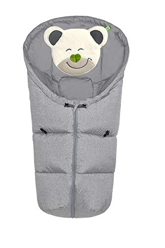Odenwälder Fußsäckchen Mucki fashion new woven, Design:soft grey