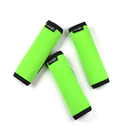 Cosmos 3 PCS Green Color Comfort Neoprene Handle Wraps/Grip/Identifier for Travel Bag Luggage Suitcase