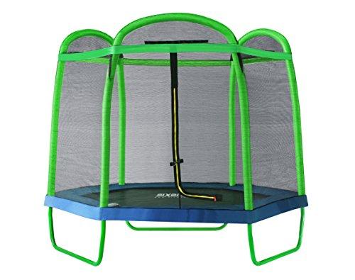 SixBros. SixJump 2,10 M Trampolín Cama elástica de jardín Verde - Red de Seguridad TG210/2026