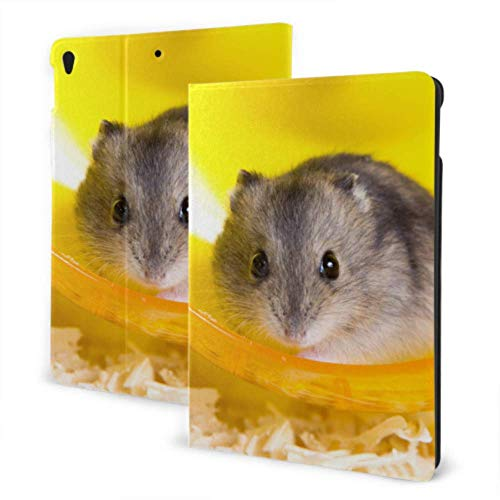 GOSMAO iPad Case Fit iPad 7th Generation 2019, iPad 10.2 Case Active Hamster Running On Wheel PU Leather Business Cover with Stand Pocket and Auto Wake/Sleep for iPad 10.2'