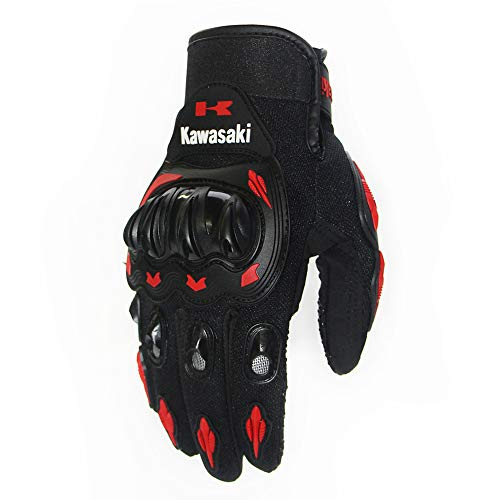 Gants Moto,Gants de Moto Outdoor Sports Protection Electric Vehicle Bike Ride Off-Road Racing Gloves XL Rouge