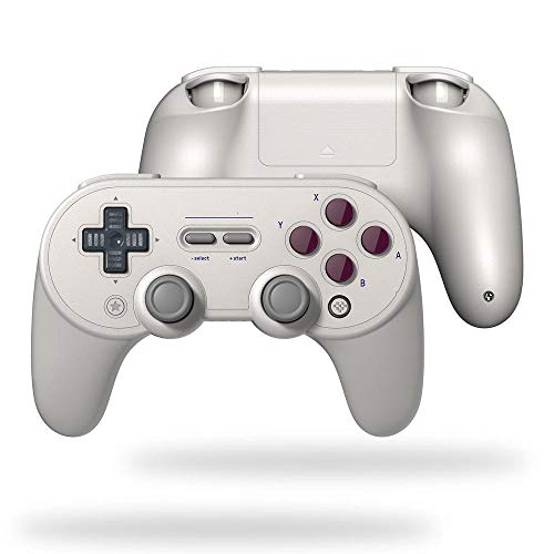 Manette de Jeu sans Fil Bluetooth Vibration Gamepad Game Controller for Windows Mac OS for Nintendo Commutateur Respberry Pi - Gris contrôleur Joystick (Color : White, Size : One Size)