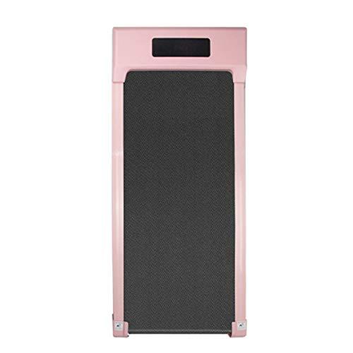 The Home Store Flaches Laufband, Haushalts kleines Laufband, 0,55 PS 1,0-6,0 km/h, Tragend 100kg, für zu Hause und im Büro, 1220 * 490 * 110 mm Rosa