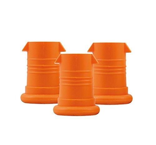 ISYbe Mundstück (3 Stück) (BPA-frei, spülmaschinengeeignet, geruchs- und geschmacksneutral) (Orange)
