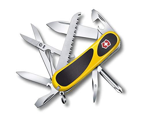 Victorinox Taschenmesser Evolution 18 (15 Funktionen, Ergonomisch, Klinge, Nagelfeile) gelb/schwarz