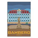 ASFGH Bamberg Germany Retro Reise Poster Dekor Gemälde