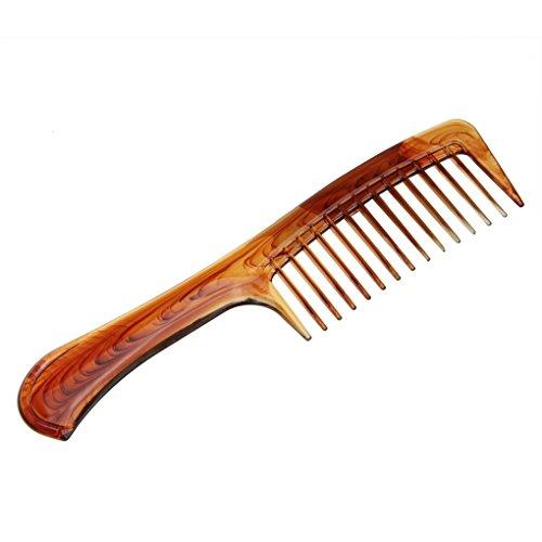 Faux Face® hochweitig Peigne de Coiffeur Poignée Peigne Brosse à Cheveux Mèche Locke Peigne Peigne Peigne afro Peigne Poche à rabat Peigne grossier