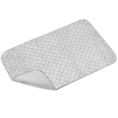 Ironing Mat, Portable Travel Ironing Blanket, Thickened Heat Resistant Ironing Pad Cover for Washer, Dryer, Table Top, Countertop, Small Ironing Board(19×33 inches)