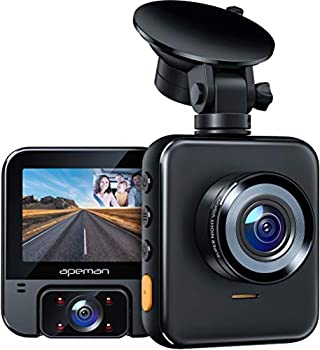 APEMAN 2K Dual Dash Cam C880 Front and 1080P Inside Car Driving Recorder Sony IR Night Vision for Taxi Driver 170° Wide Angle WDR G-Sensor Parking Monitor Loop Recording Support GPS 128GB Max