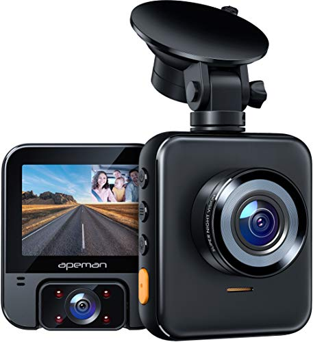 APEMAN 2K Dual Dash Cam C880, Front and 1080P Inside Car Driving Recorder, Sony IR Night Vision for...