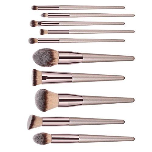Toygogo Maquillage Professionnel Pinceaux Fard à Paupières Fondation Beauté Cosmétiques - 10pcs